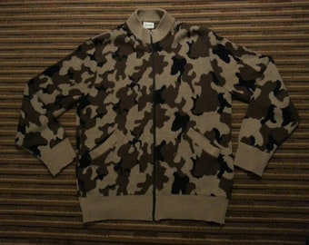 80s Camo Zip up sweater by Bob Fratzke!