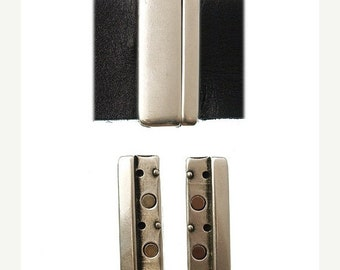 On Sale NOW 25%OFF Smooth Rounded Magnetic Clasp For Up To 50mm Flat Leather Cord Antique Silver C1253 Qty 1