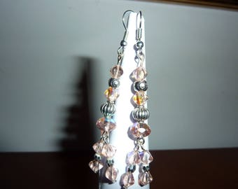 Earrings ' earrings with glass beads and Tibetan silver beads