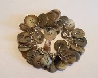 Light Brown Button Bracelet