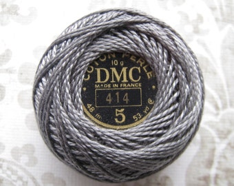 DMC Pearl/ Perle Cotton Balls Size 5 - 414 Dark Steel Gray