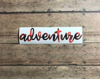 adventure / fun / wild child / adventure is out there / decal / vinyl / buffalo / buffalo plaid / wild / travel /