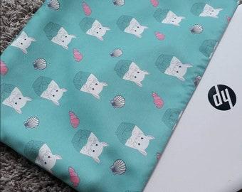 Merchin seashell laptop sleeve