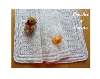 Christening Shawl Baby Crochet Pattern (DOWNLOAD) CNC65
