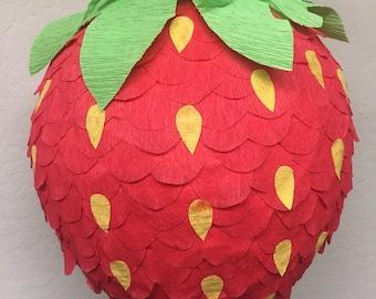 Red Strawbery Piñata