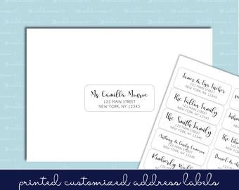 """Guest List Address Labels - 1""""x2-5/8"""" - Wedding Invitations - Individual and Different Names and Addresses on Each Label! READ INSTRUCTIONS"""