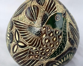 Handmade gourd ornament