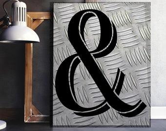 Ampersand print - Industrial decor - And print - Ampersand sign - And sign - Industrial print - Modern home decor - Modernist wall art