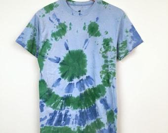 Hanes Tie Dye Blue Green Tee Shirt - (Medium) NEW