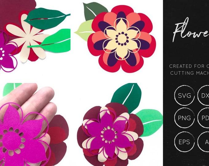 Layered Flower SVG