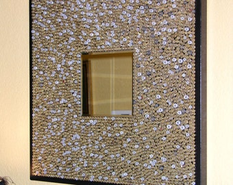Abstract Original Art Mirror, made with 1000s of empty bullet casings, you MUST see the close ups, FREE ship