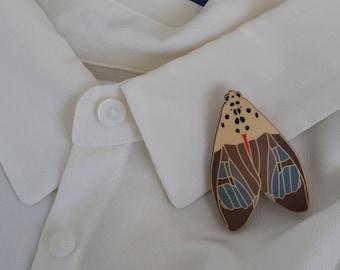 The Duke Moth Brooch
