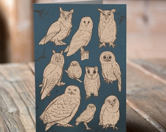 Owls Greetings card