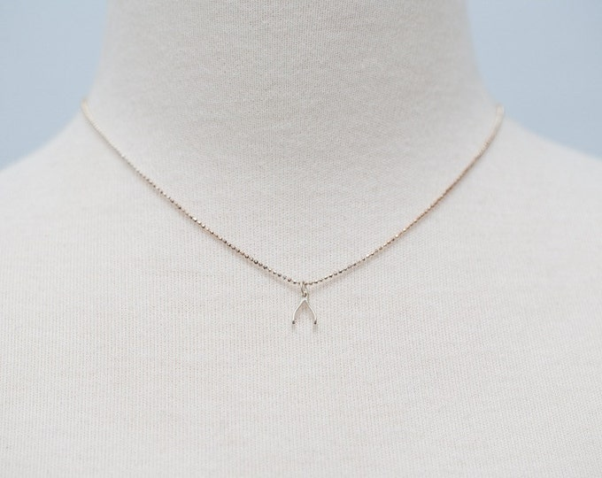 """Wishbone necklace 16""""  Good Luck for Graduates!"""