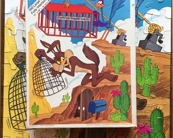 1980 The Road Runner Puzzle Vintage