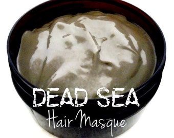 Therapeutic Dead Sea Mud Hair Mask *Repair Treatment w/ Peppermint - Strengthen Hair With Over 26 Minerals 8oz.