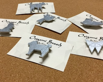 Origami style animal brooch...different styles to choose from