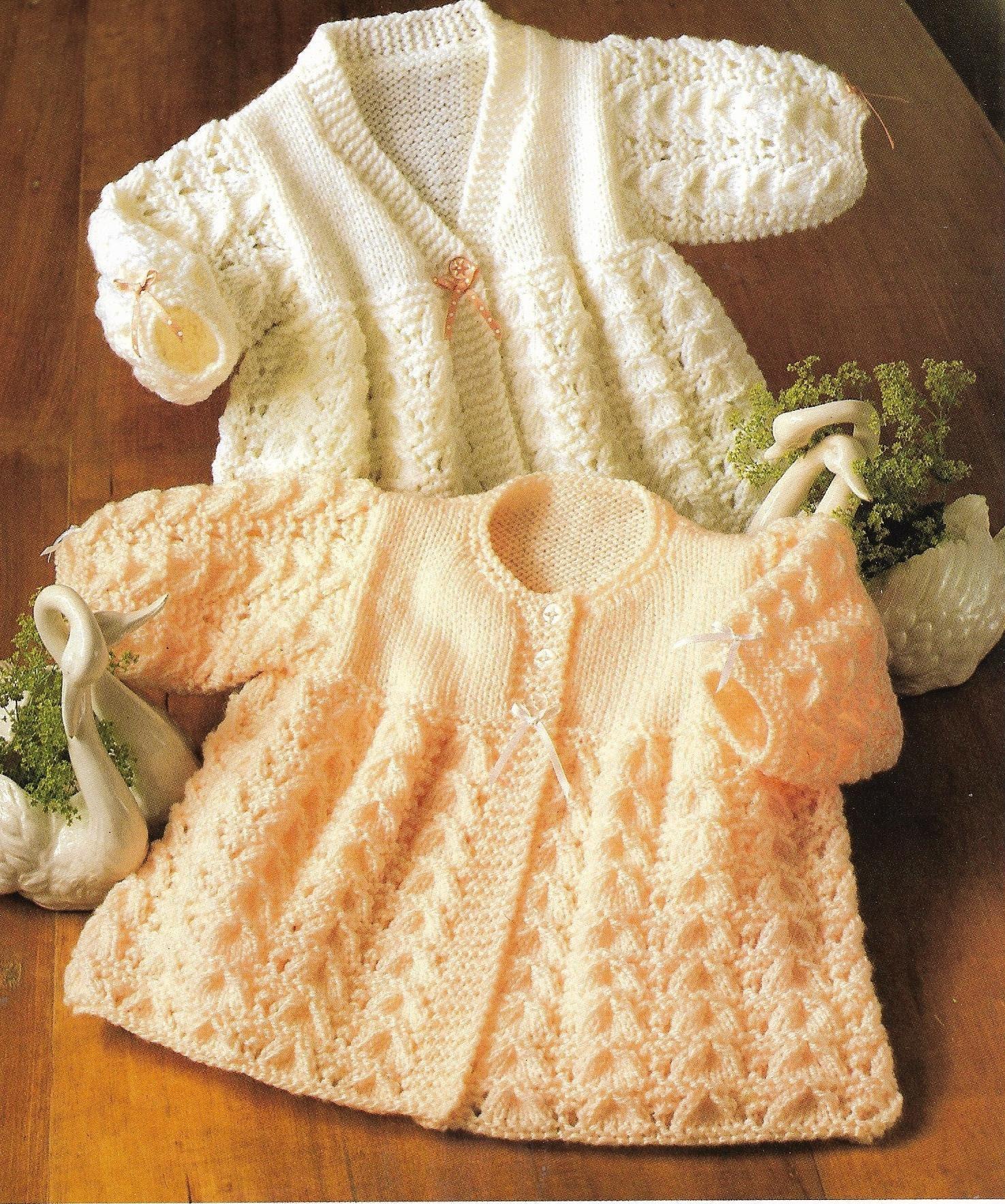 aae3d156b15b Instant PDF Digital Download Vintage Baby Knitting Pattern Baby s ...