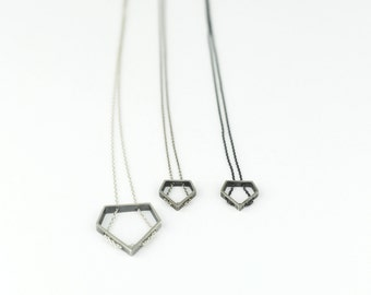 """Necklace """"Diamante"""" Collection - Sterling Silver"""