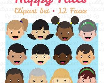 Faces Clipart, Clip art