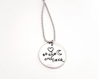 Handmade metal stamped personalized necklace