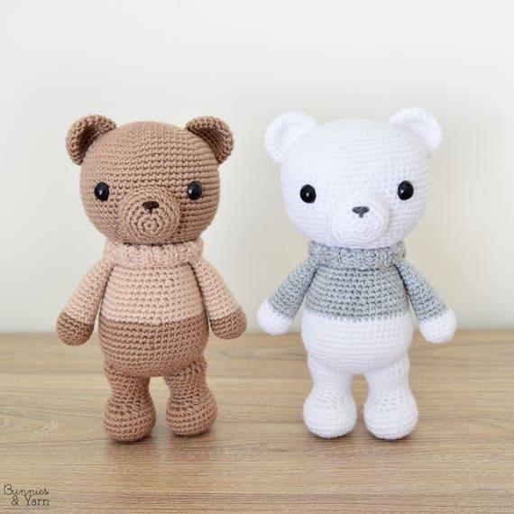 Patrón de Crochet en Inglés Xander el Oso de Invierno 23