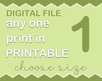Choose any single art print from my PinkeeArt or PinkeeHome shop and turn into digital file, customize