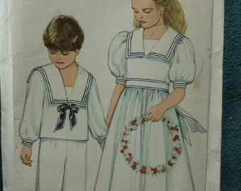 New Look 6269 girls or boys sailor dress or suit size 2 to 7