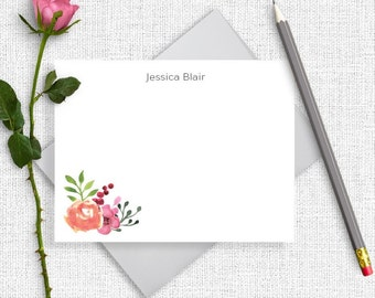 Bridesmaid Gift, Personalized Stationery, Personalized Stationary, Personalized Note Cards, Thank You Note Cards, Custom Stationery, FL02