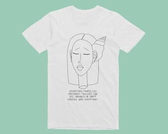 T-shirt sérigraphié - Tête coquillage