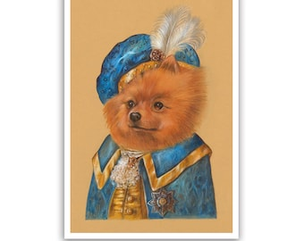 Pomeranian. The Page / Pomeranian Art Print / Royal Dog Art Gallery of Animal Century