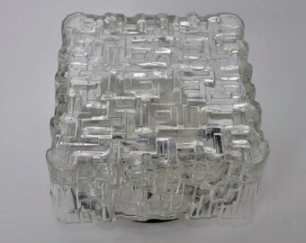 Crystal clear glass flushmount, 1960s