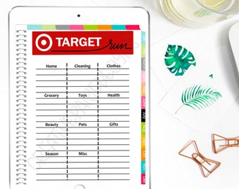 Digital Planner Target Shopping List