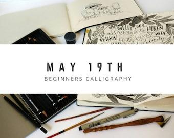 Calligraphy 101 Class, Beginner MAY 19 Hand Lettering Atlanta Area Workshop, In Person Beginner Calligraphy Class and Hand Lettering Kit