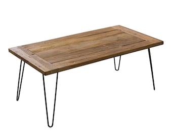 ET4222R, Coffee Table, Reclaimed Elm Wood, Regular Style