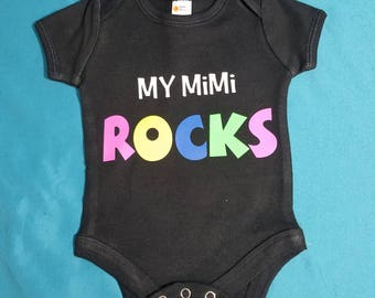 My MiMi Rocks Baby One Piece ~ Bodysuit