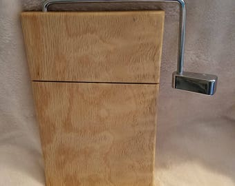 quilted oak cheese slicer