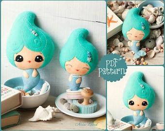 PDF Pattern. Cute mermaids.