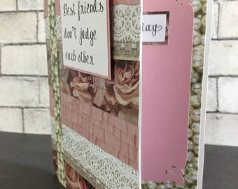Best friends don't judge (funny) Happy Birthday card