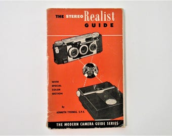 Vintage 1952 The Stereo Realist Guide With Special Color Section by Kenneth Tydings Modern Camera Guide Series Mid Century Paperback Manual
