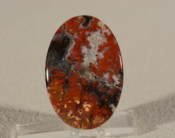 Brenda Plume Agate Cabochon. Handcrafted USA. Natural Gemstone.