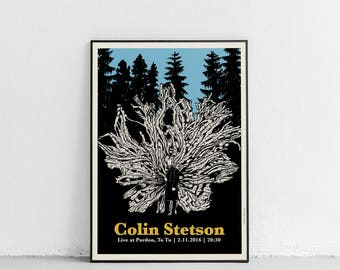 "COLIN STETSON | gigposter | inkjet print | 50 x 70 cm (19,7"" x 27,6"")"