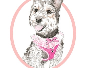 Gifts for Her. Custom DIGITAL Pet Portrait-Custom Dog Portrait-Dog poster-Custom Made-Printable Art-Dog-Dog Art-printable art-personalised