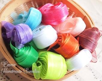 20 meters Organza Ribbon // Sheer Ribbon // Assorted colors // 7mm, 10mm, 15mm // Hair bow ribbon // Decoration Ribbon