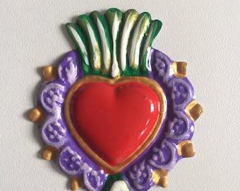 Heart shaped decorative Tin