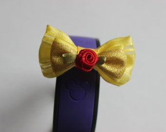 Beauty Belle Inspired Magic Band Bow