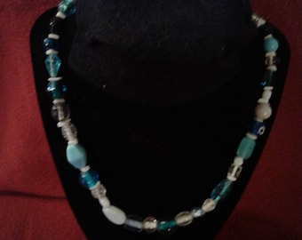 The Blues Beaded Necklace
