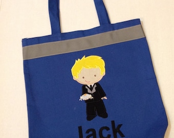 Personalized Tote Bag, Personalized Tote, ring bearer Tote Bag, Wedding Tote, ring bearer Gift, Personalized ring bearer, Quiet Bag