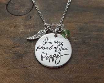 Handwritten Necklace, Handwriting Jewelry, Engraved Handwriting, Personalized Gift, Signature Jewelry, Handwritten Engraving, Gift For Her