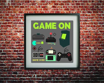 Game on Print  // Office // Desk // Kids Room